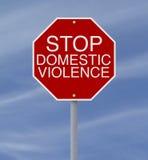 Pare la violencia en el hogar Imagen de archivo