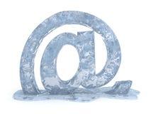 Muestra congelada del correo de e libre illustration