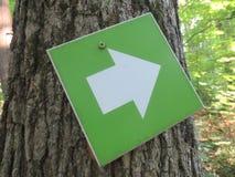 Muestra correcta de la flecha direccional del viaje Imágenes de archivo libres de regalías