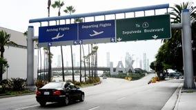 Muestra cubierta del aeropuerto internacional de Los Ángeles almacen de metraje de vídeo