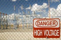 Muestra de alto voltaje Imagen de archivo