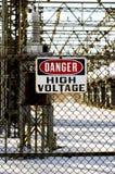 Muestra de alto voltaje Imagen de archivo libre de regalías