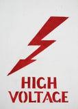 Muestra de alto voltaje Imagenes de archivo