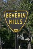 Muestra de Beverly Hills imagen de archivo libre de regalías