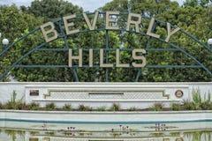 Muestra de Beverly Hills Los Ángeles Foto de archivo