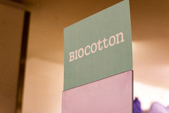 Muestra de Biocotton para la exhibición Fotos de archivo