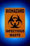 Muestra de Biohazard Imágenes de archivo libres de regalías