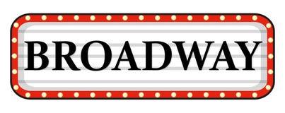Muestra de Broadway con el marco rojo libre illustration