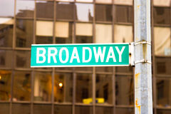 Muestra de Broadway, Nueva York Fotos de archivo libres de regalías