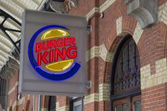 Muestra de Burger King fotos de archivo