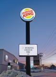 Muestra de Burger King Imagen de archivo libre de regalías