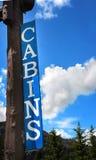 Muestra de cabina azul Imágenes de archivo libres de regalías