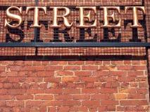 Muestra de calle Fotografía de archivo libre de regalías