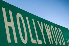 Muestra de calle de Hollywood Imágenes de archivo libres de regalías