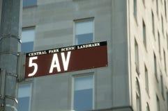 Muestra de calle de Nueva York Imágenes de archivo libres de regalías