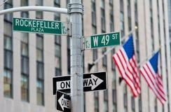 Muestra de calle de Nueva York Imagen de archivo libre de regalías