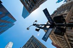 Muestra de calle de Nueva York Foto de archivo libre de regalías