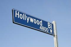 Muestra de calle del bulevar de Hollywood Imágenes de archivo libres de regalías