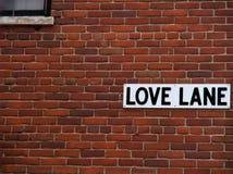 Muestra de calle del carril del amor Foto de archivo
