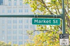 Muestra de calle de mercado imagen de archivo