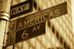 Muestra de calle NY Fotografía de archivo libre de regalías