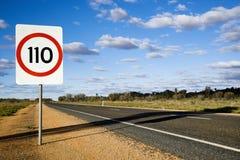 Muestra de camino de Australia Foto de archivo libre de regalías