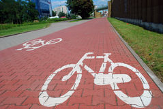Muestra de camino de la bici Foto de archivo