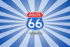 Muestra de camino de la ruta 66 Fotografía de archivo libre de regalías