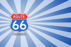 Muestra de camino de la ruta 66 Fotos de archivo