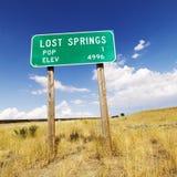 Muestra de camino de Wyoming. Fotografía de archivo