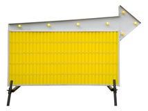 Muestra de camino informativa en blanco amarilla Fotografía de archivo libre de regalías