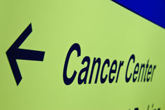 Muestra de centro del cáncer Fotografía de archivo libre de regalías