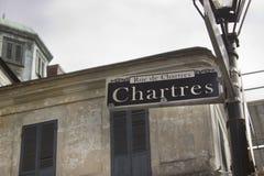 Muestra de Chartres del barrio francés de New Orleans Fotografía de archivo libre de regalías