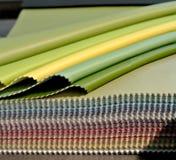 Muestra de cuero coloreada foto de archivo