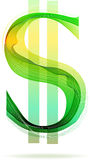 Muestra de dólar abstracta verde Imagen de archivo libre de regalías