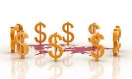 muestra de dólar 3d stock de ilustración