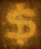 Muestra de dólar de la vendimia de Grunge Imagenes de archivo