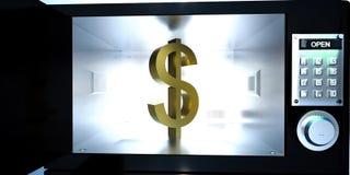 Muestra de dólar dentro de un armario Imágenes de archivo libres de regalías