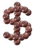 Muestra de dólar hecha de monedas Foto de archivo libre de regalías
