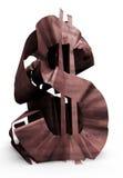 Muestra de dólar oxidada Fotografía de archivo