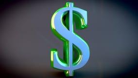 Muestra de dólar verde metálica brillante Fotos de archivo