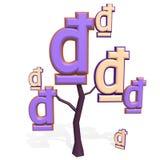 muestra de 3d Dong en un árbol Imagen de archivo