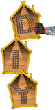 Muestra de Diy con tres casas formadas libre illustration