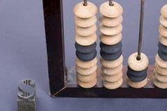 Muestra de dólar del ábaco Foto de archivo