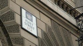 Muestra de Fleet Street, ciudad de Londres almacen de video