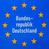 Muestra de frontera Alemania en el camino imagen de archivo libre de regalías