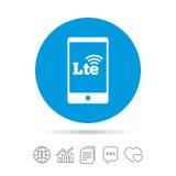 muestra de 4G LTE Símbolo a largo plazo de la evolución Fotos de archivo