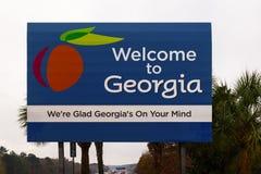 Muestra de Georgia Welcome fotos de archivo libres de regalías