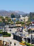 Muestra de Hollywood en un cielo azul Imagenes de archivo