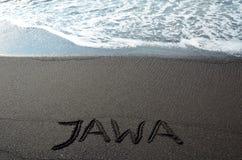 Muestra de Java en la playa Fotos de archivo